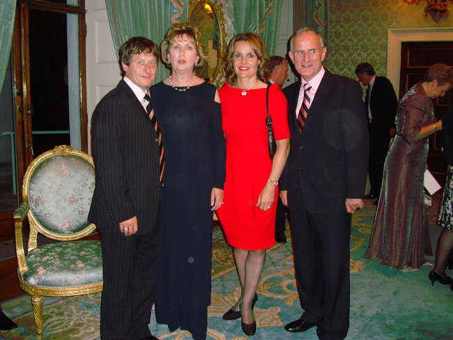 With Mary McAleese