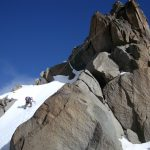 return climb to Nelion from Batian summit