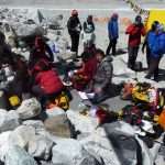 Puja ceremony at base camp getting our gear blessed.